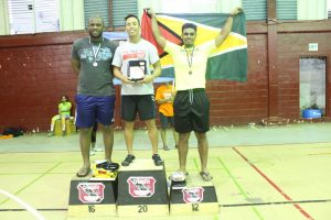 Scaled Male winners (from left to right) Yannick Duchaussee , Daniel Koo & Stephen Fraser.