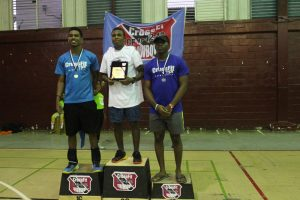 Top Teen athletes (from left to right) Alexi Charles, Khalil Alleyne & Malik Lionel